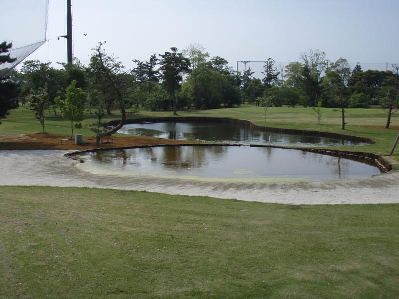 東洋ゴルフ場コース内 池改修工事